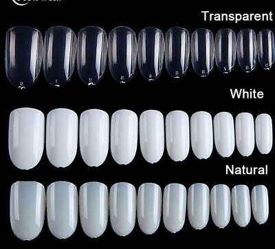 20 pcs Fake Nails Clear French Manicure nails Stick on nails Clear Pearl White