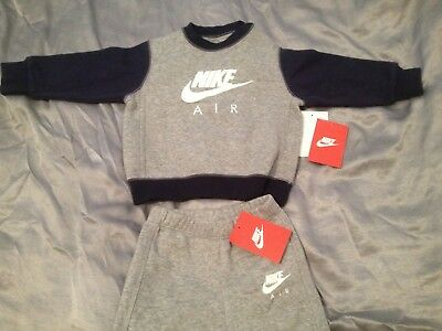 NIKE AIR INFANT UNISEX TODDLER CREW SUIT 6-9 Months GY/NL/WH 648485-063