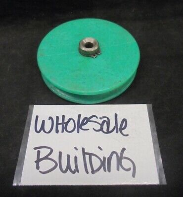 "Conveyor Belt Plastic Pulley Wheel, 2-15/16"" Od, 19/32"" Face, 1/4"" Bore, Green"
