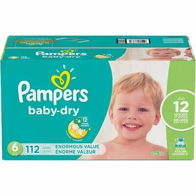 Pampers Baby Dry Diapers Size 6 with 112 Count Multi-Colored For Yours