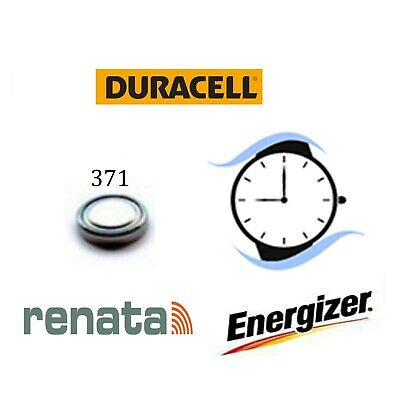 371/SR920SW Silver Oxide Watch Battery 1.55v Duracell Renata Energizer Batteries