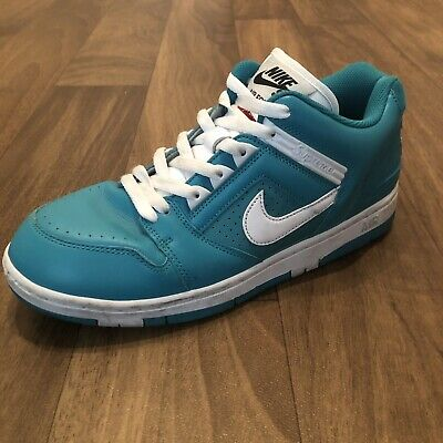 Supreme x Nike SB Air Force 2 Size 9.5 Teal Left Shoe Only e8d778acf