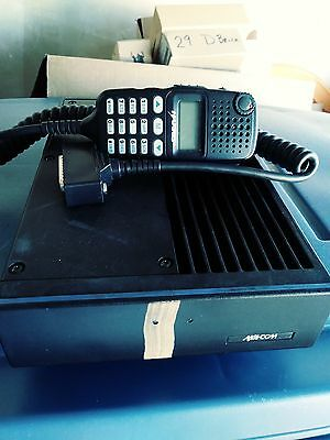 Harris MA/COM M7100IP Mobile 110 watt VHF 136-174 With LCD Mic Head and Y cable