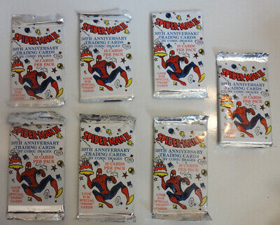 Spider-Man II 30th Anniversary Spiderman Trading Cards 7 New Packs FREE Shipping