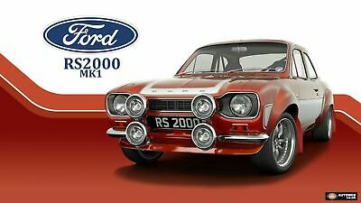 A3 Ford Escort MK1 RS2000 RS Mexico Rally Car Wall Poster Art Picture Print