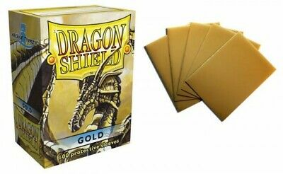 Dragon Shield - Gold 100 Protective Sleeves Cases Standard Card Holder