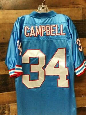 72da8e416 NWOT Houston Oilers Mitchell   Ness Earl Campbell  34 Throwbacks Jersey 48  XL