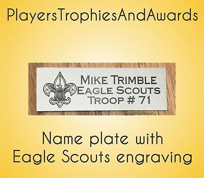 Eagle Scouts Name plate custom Laser engraving Free engraving proof