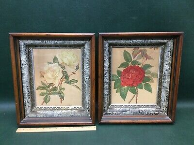 Pair of Antique Eastlake Aesthetic Victorian Carved Walnut Deep Picture Frames