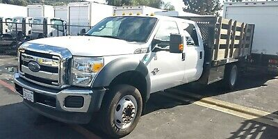 2015 Ford f550 super cab 10ft stakebed tow hitch goose neck-Lariat Package WARTY