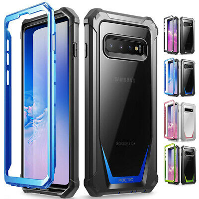 Poetic Galaxy S10 Case, Heavy Duty Clear Back Guardian Series Shock proof 4Color