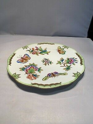 """Herend Queen Victoria 11"""" Charger Service Plate 1527 VBO Sold Individually"""