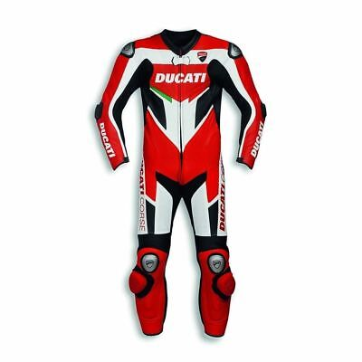 Motorcycle Ducati Corse Cowhide leather suit CE Armour Motorbike MotoGP ALL Size