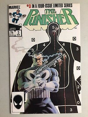 Punisher 3 1st Limited Series Classic Mike Zeck Cover Marvel 1986 VF-
