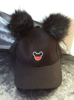 BNWT MINNIE MOUSE BASEBALL CAP in WHITE or BLACK 4-8 YEARS 54cms