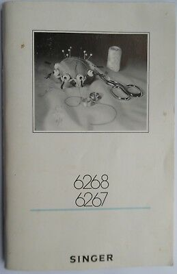 Original SINGER 6267 & 6268 Creative Sewer's Guide &Attachments Instruction Book