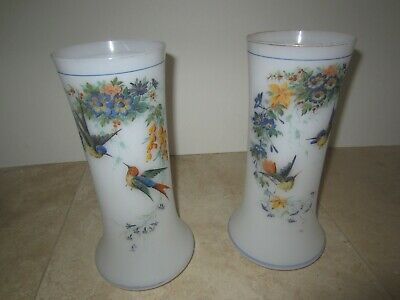 Pair of late 19th century, about 1890, Victorian era, English Bristol vases