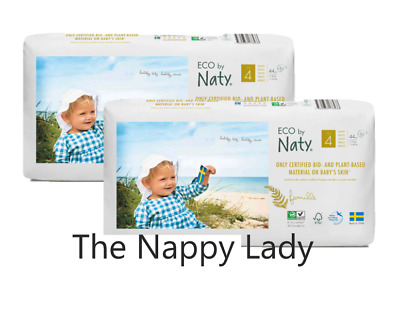 Naty by Nature care  ECO NAPPIES  SIZE 4 7-18KG 2 PACKS OF 44= 88 NAPPIES