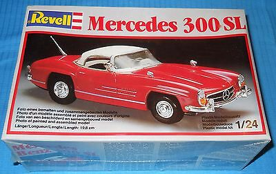 Revell Mercedes 300SL-1/24 -H 7327 W German Collectible-NOS Sealed Model Kit