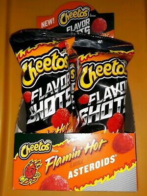 Cheetos Flavor Shots Flamin Hot Asteroids In Hand (Six Units)