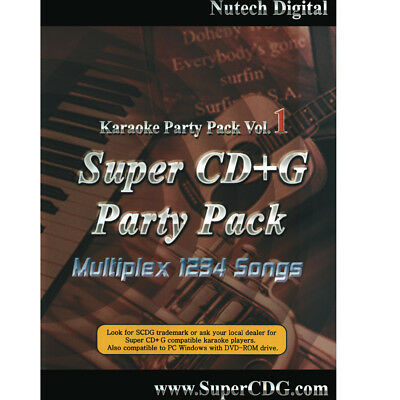 NUTECH KARAOKE Vol-1Super CD+G 1234 Tracks it Plays on Cavs or Window PC In case