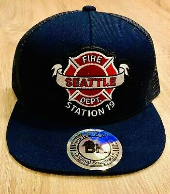 Station 19 Seattle Cap Hat Fire Department Work Duty TV Show FREE SHIP Crew Navy