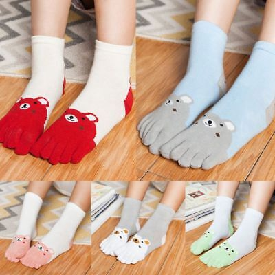 Children Winter Cotton Ankle Long Over Five Fingers Socks Split Toe Hosiery 4-7T