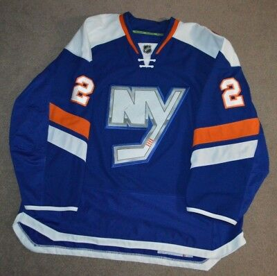 Nick Leddy New York Islanders Game Worn Used Third Jersey LOA Photomatched  14 15 5e8bbb60a