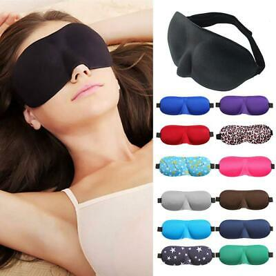 3D Eye Mask Sleep Soft Padded Shade Cover Rest Travel Relax Sleeping Blindfold