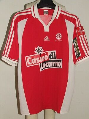 SOCCER JERSEY TRIKOT CAMISETA MAILLOT MATCH WORN LOCARNO n °4 SIGNED