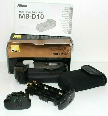 Genuine Nikon MB-D10 Battery grip +Nikon MS-D10 AA Battery Holder Tray D300 D700