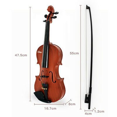 3-6 years old Violin Natural Acoustic Plastic Beginner Children Bow Rosin Toy AU