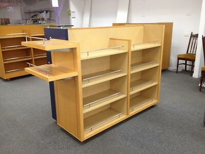LOT#D Quality Used Wooden Gondola on Casters shop fitting NOBLE PARK, Vic