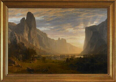 """42W/""""x28H/"""" LOOKING DOWN YOSEMITE VALLEY by ALBERT BIERSTADT CHOICES of CANVAS"""