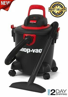 Shop-Vac 5 Gallon 2.0 Peak HP Classic Wet Dry Vacuum Black/Red Cord Tool Storage