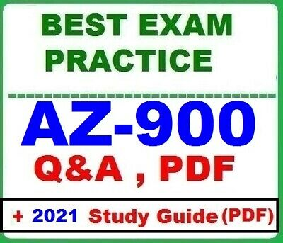 AZ-900 -BEST Exam Practice Q&A -MS Azure Fundamentals  +FREE PDF Study Guide