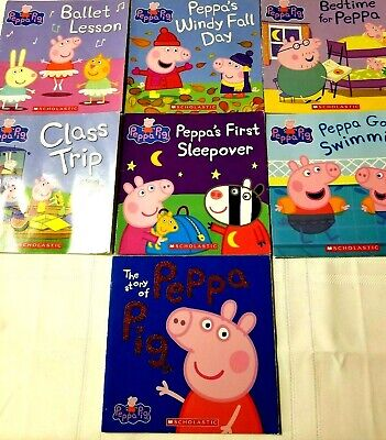 Lot Of 7 Childrens Picture Books Peppa Pig Scholastic Goes Swimming