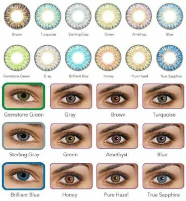 NATURAL Color Contacts Eye Lenses Colorblends Cosmetic Makeup Lens LAST 1 YEAR!