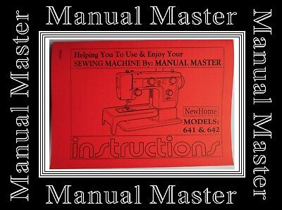 JANOME NEW HOME Model 641 & 642 sewing machine instruction Manual Booklet