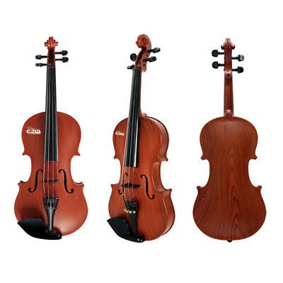 1/4 Size Plastic Violin Acoustic Wooden Colour Beginner Children Toy Bow Rosin