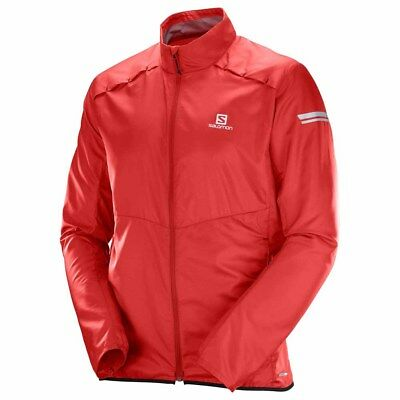 Details about Salomon Agile Wind Womens Jacket Beet Red