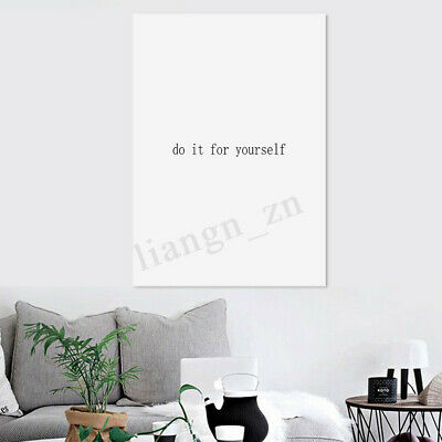 Modern Canvas Print Painting Life Quotes Wall Art Picture Home Decor Unframed .