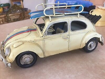 VW Beetle Car Volkswagen Tin Metal Collectible Toy -Home Decoration