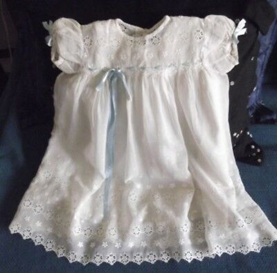 ANTIQUE 1953s HANDMADE CHRISTENING GOWN, AUSTRALIAN MADE,WORN ONCE,PETTICOAT INC