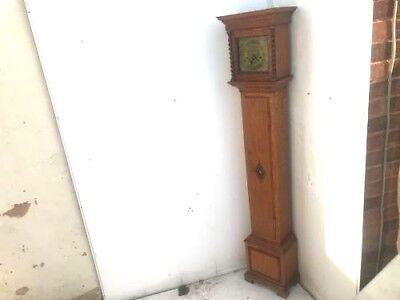 Edwardian period three train spring  driven 1/4 striking grandmother clock.
