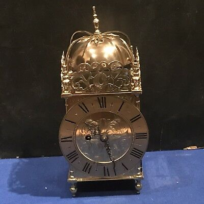 English Fusee 8 Day Passing Strike Lantern Clock, Free Worldwide Delivery