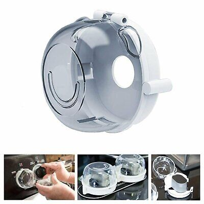 1Pcs Stove Knob Covers Safety 1st Child Proof Kitchen Hinged Lid Clear Protector