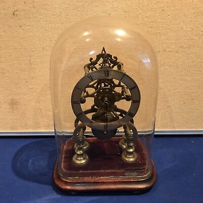 antique fusee skeleton clock