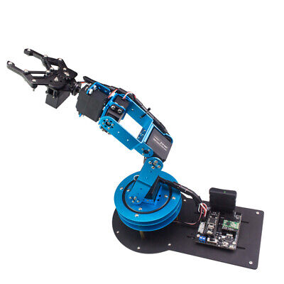 6DOF Mechnical Robotic Arm with 6pcs Digital Servo and PS2 Handle Control DIY