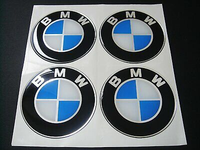 4pcs 60mm Adhesive flat stickers BMW 60mm Wheel Center decals Rim Badges